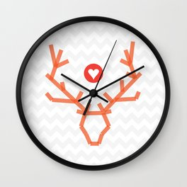 Heart of stag Wall Clock