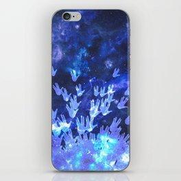 H.E.L.L.O. / blue iPhone Skin