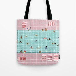 Pink Tiles Tote Bag