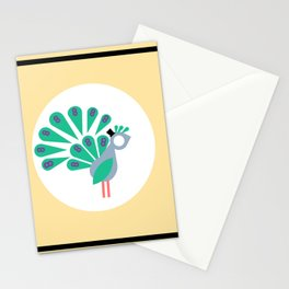 The Peculiar Parley A, Peacock Stationery Cards