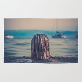 WOMAN - HAIR - WATER - PHOTOGRAPHY Rug