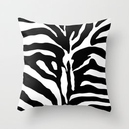 Black and white Zebra Stripes Design Throw Pillow
