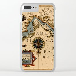 Map Of The Strait Of Magellan 1611 Clear iPhone Case