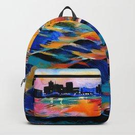 Seaport of Genoa, Italy Backpack