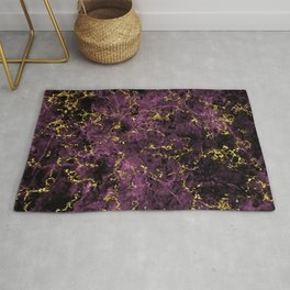 GOLD MAGENTA MARBLE Rug