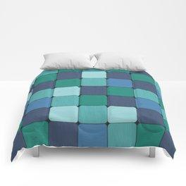 Blue Blocks Comforters