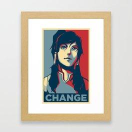 Avatar Changes Framed Art Print
