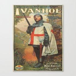 Vintage poster - Ivanhoe Canvas Print