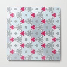 Kaleidoscope Flowers Winterday Metal Print