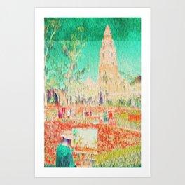 glitchy gardens Art Print