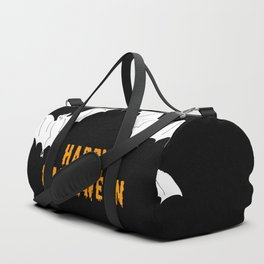 Happy Halloween flying bats Duffle Bag
