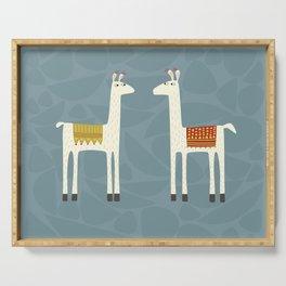 Everyone lloves a llama Serving Tray