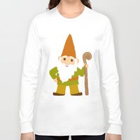 gnome Long Sleeve T-shirts featuring gnome sweet gnome by Elephant Trunk Studio