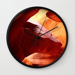 A Symphony In Sandstone Wall Clock