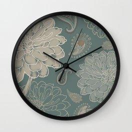 Cocoa Paisley VI Wall Clock