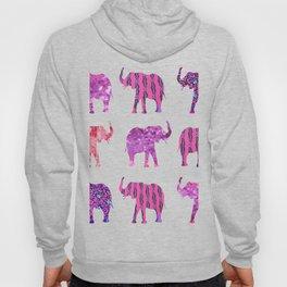 Pretty in Pink Elephant Print Hoody