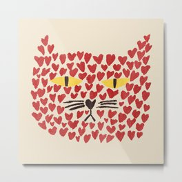 Love thy cat Metal Print