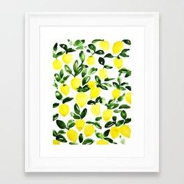 Summer Lemons Framed Art Print