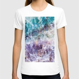 Turquoise & Purple Quartz Crystal T-shirt