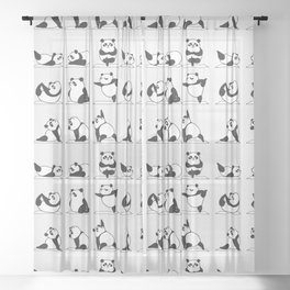 Panda Yoga Sheer Curtain