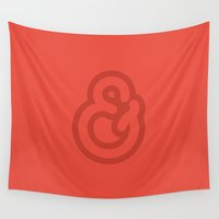 ampersand Wall Tapestries featuring Ampersand by BMaw