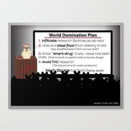 Lab Rat World Domination Canvas Print