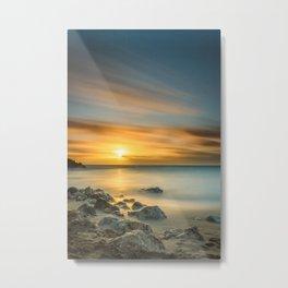 A Calm sunset in winter Metal Print