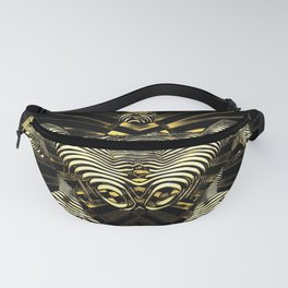 8788-KMA Resistance is Futile Gold Android Ready to Serve Abstract Sensual Figure Fanny Pack