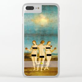 Three Graces censored Clear iPhone Case