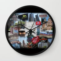detroit Wall Clocks featuring Detroit MI by Andrew Sliwinski