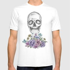 The Birth of Death II White Mens Fitted Tee MEDIUM