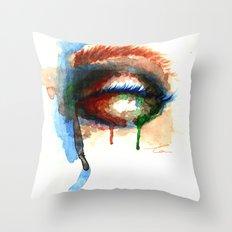 Watercolor Eye Throw Pillow
