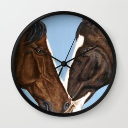 Horses in Love Wall Clock
