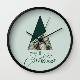Green Xmas #society6 #green #xmas Wall Clock