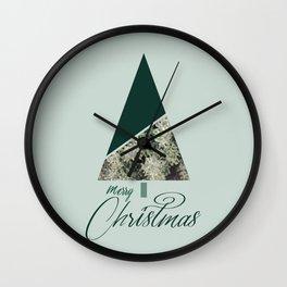 Green Xmas #society6 #green #xmas Wall Clock