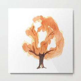 Tree. watercolor picture Metal Print