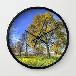 Summertime Farm England Wall Clock