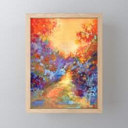 Late Afternoon Autumn Sun Framed Mini Art Print
