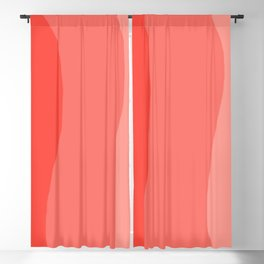 Wavy Living Coral Stripes Blackout Curtain