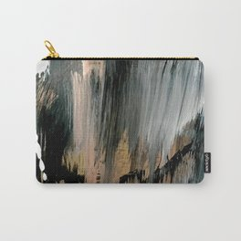 01025: a neutral abstract in gold, black, and white Carry-All Pouch