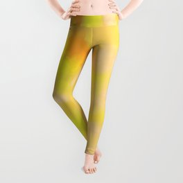 Yellow Liquid Gold Marble Abstract Leggings