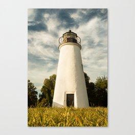 Turkey Point Lighthouse Standing Tall Coastal Landscape Photograph Canvas Print