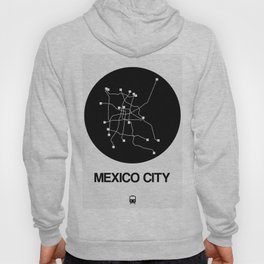 Mexico City Black Subway Map Hoody