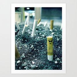 Zombie Cigarette Art Print