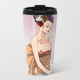 Koi Amongst the Lotuses  Travel Mug