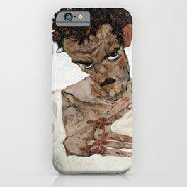 Egon Schiele Self-Portrait with Lowered Head iPhone Case