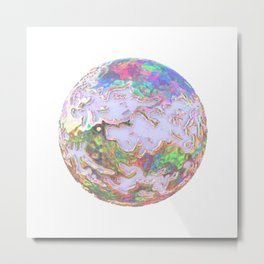 Crazy  iridescent planet Metal Print