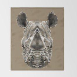 Rhino Sym Throw Blanket