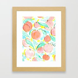 Peachy Framed Art Print