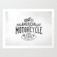 American Motorcycle Rider Art Print